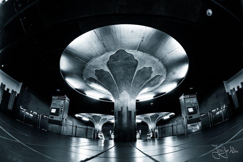 U-Bahn Station Frankfurt Architekturfotografie