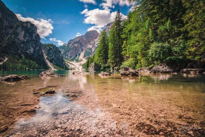 Langzeitbeichtung -Pragser Wildsee - Südtirol -  Lago di Braies - alto adige