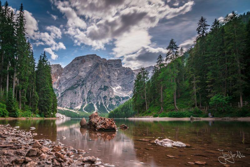 Langzeitbelichtung Pragser Wildsee - Südtirol