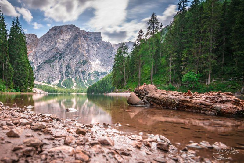 Langzeitbelichtung PLago di Braies - Pragser See - Südtirol