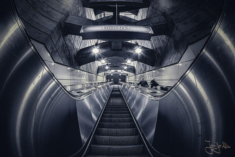 Österreich - Wien - U-Bahn-Station