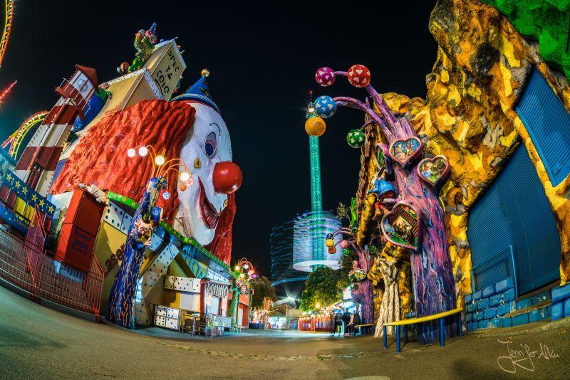 Nachtaufnahme Prater Wien