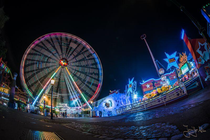 Riesenrad - Wiener Prater bei Nacht - Riesenrad