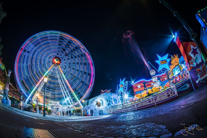 Wiener Prater bei Nacht - Riesenrad