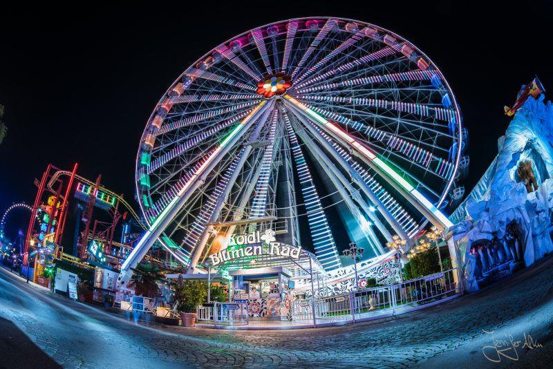 Riesenrad - Nachtaufnahme Prater Wien
