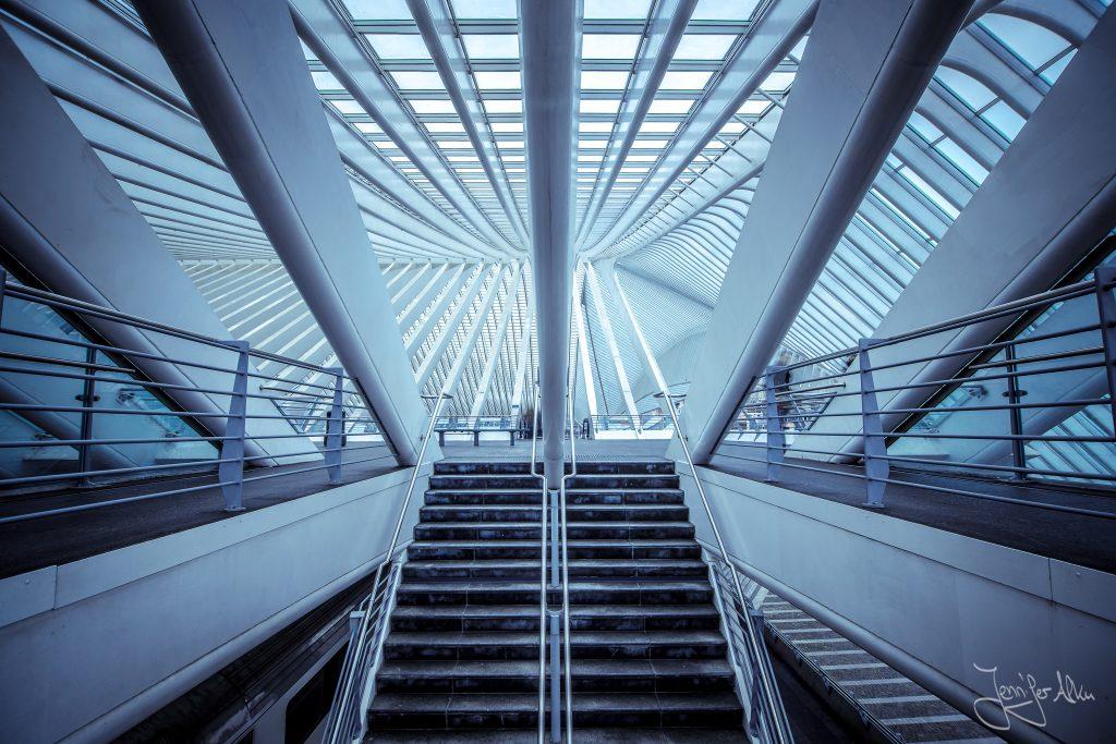 Bahnhof Lüttich, Bahnhof Liège-Guillemins, Belgien, Architekturfotografie,