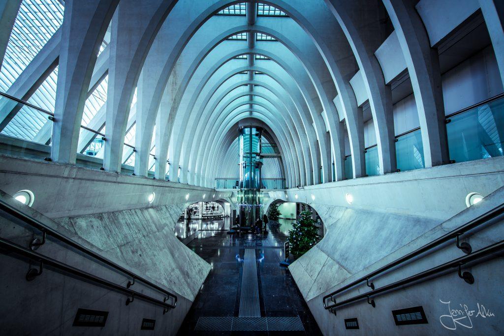 Bahnhof Lüttich, Liège-Guillemins , Santiago Calatrava, Belgien
