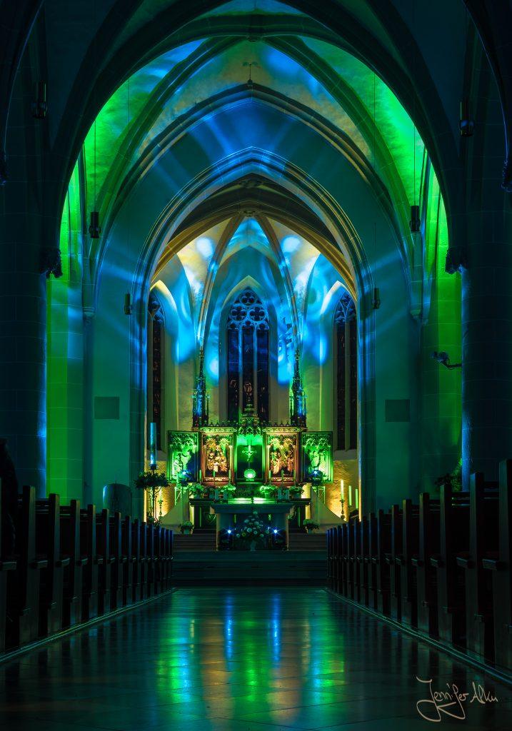 Lasershow Stadtpfarrkirche St. Johannes