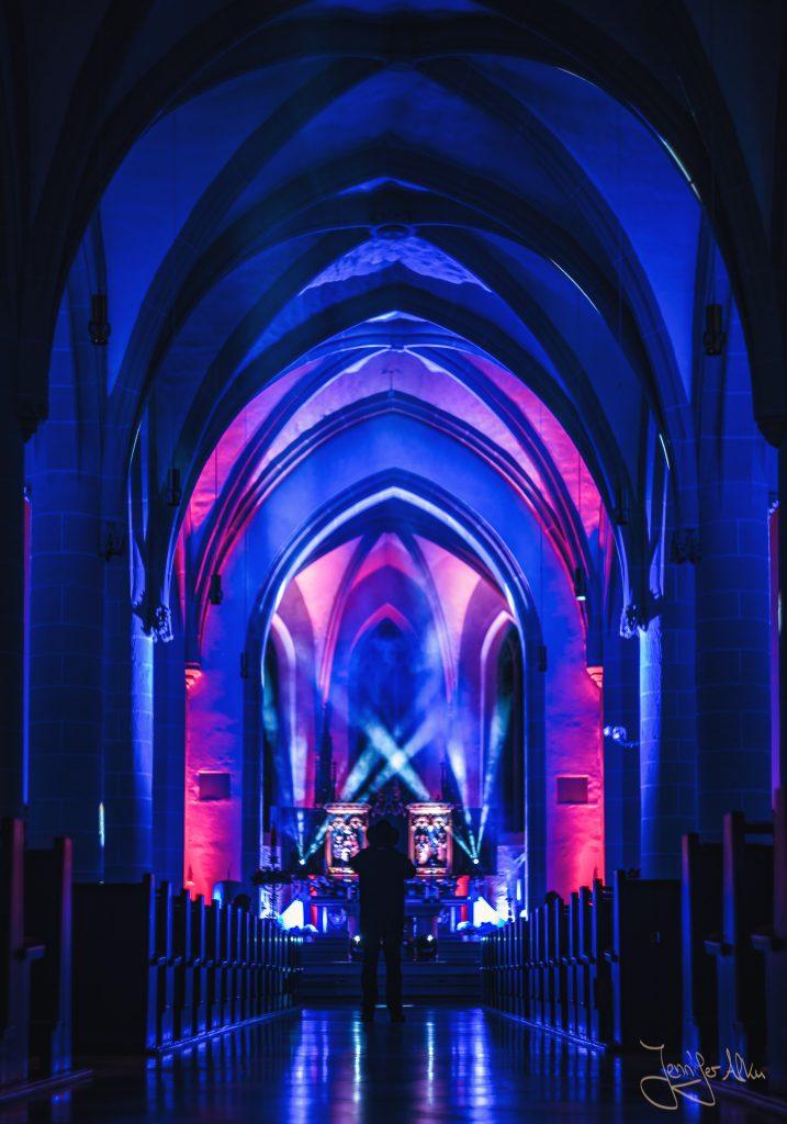 Stadtpfarrkirche St. Johannes - Lasershow