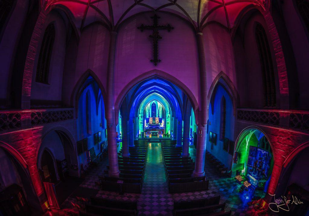 Lasershow - Stadtpfarrkirche St. Johannes