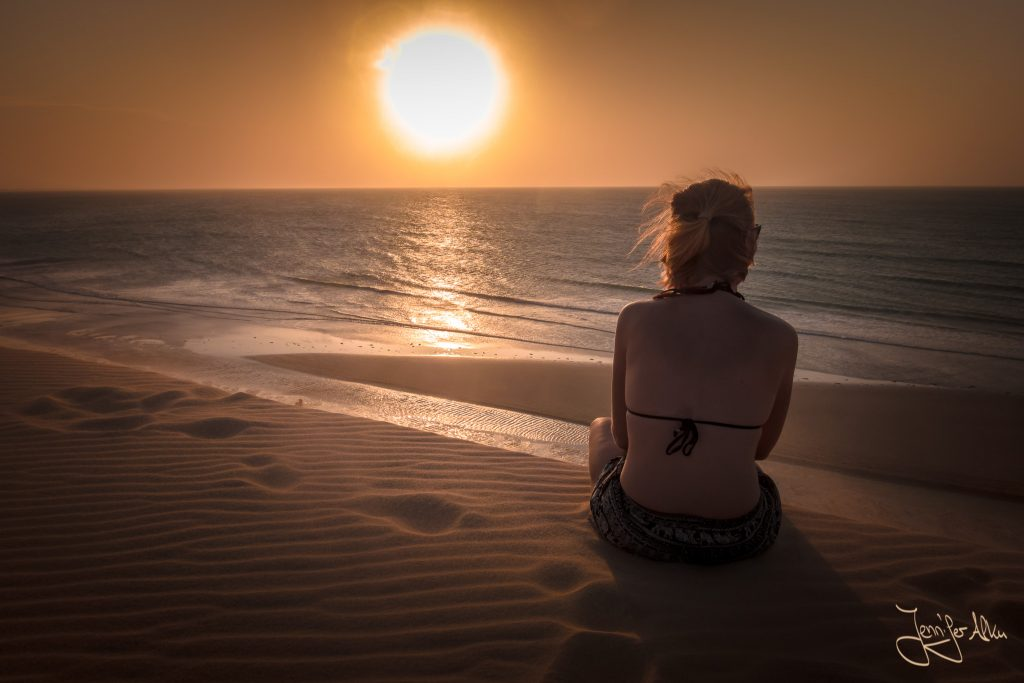 Sonnenuntergang auf der Düne von Jericoacoara / Brasilien