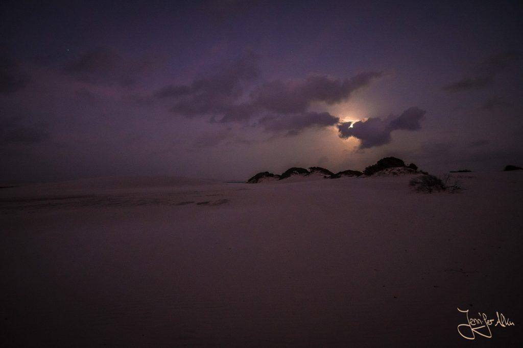 Dünen im Mondschein - Lençóis Maranhenses in Brasilien