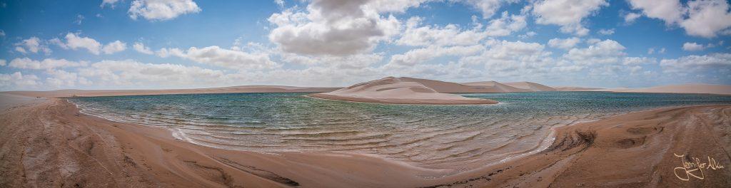 Lagune - Lençóis Maranhenses in Brasilien
