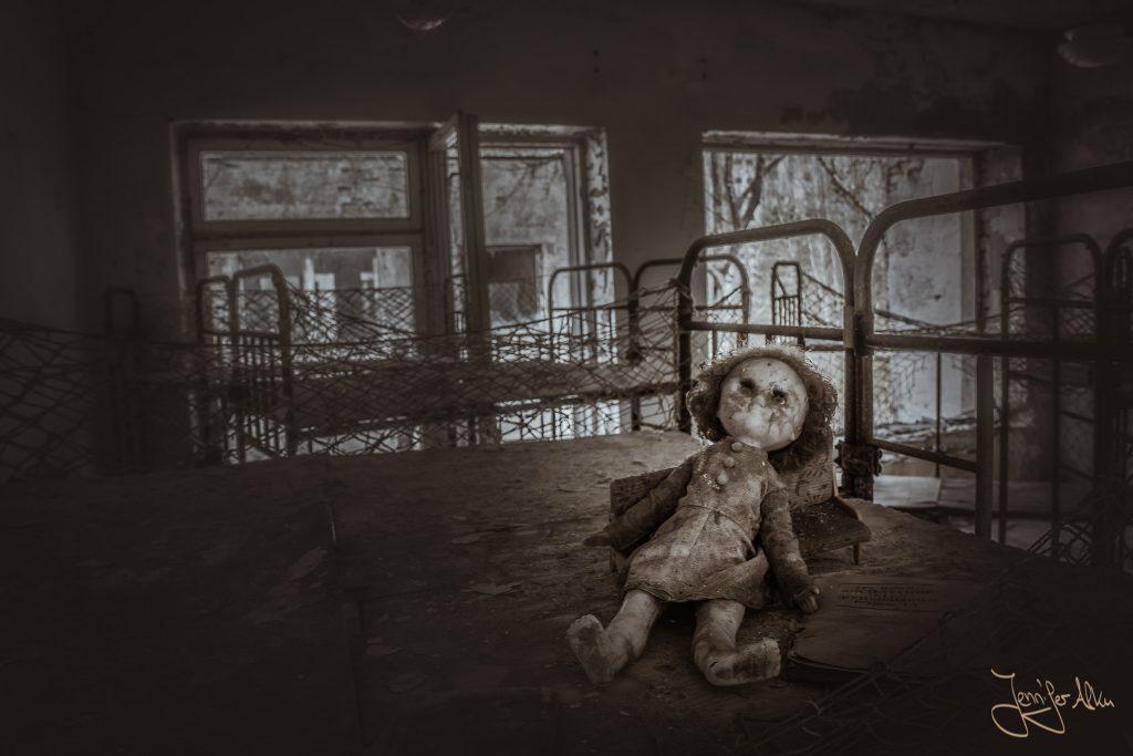 Trauriger Anblick im Kindergarten Chernobyl