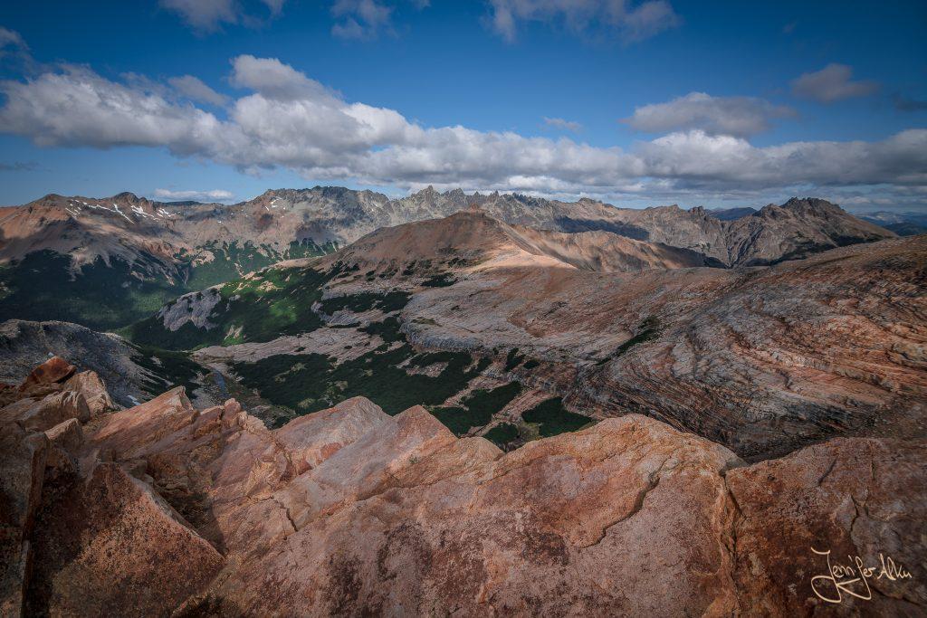 Unglaubliche Aussicht vom Cerro Cristal - Trekking von der Laguna CAB zur Laguna Creton