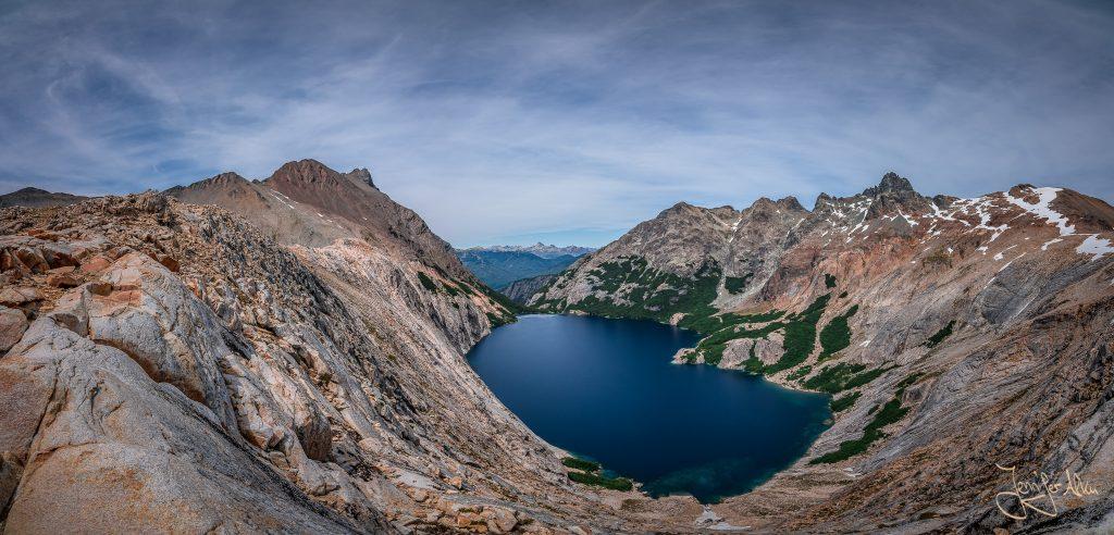 Panorama von der Laguna Azul / Laguna Calvú