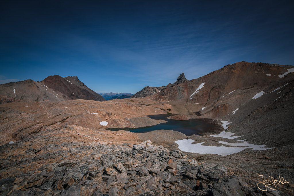 Die Laguna Jujuy beim Aufstieg auf den Cerro Capitan