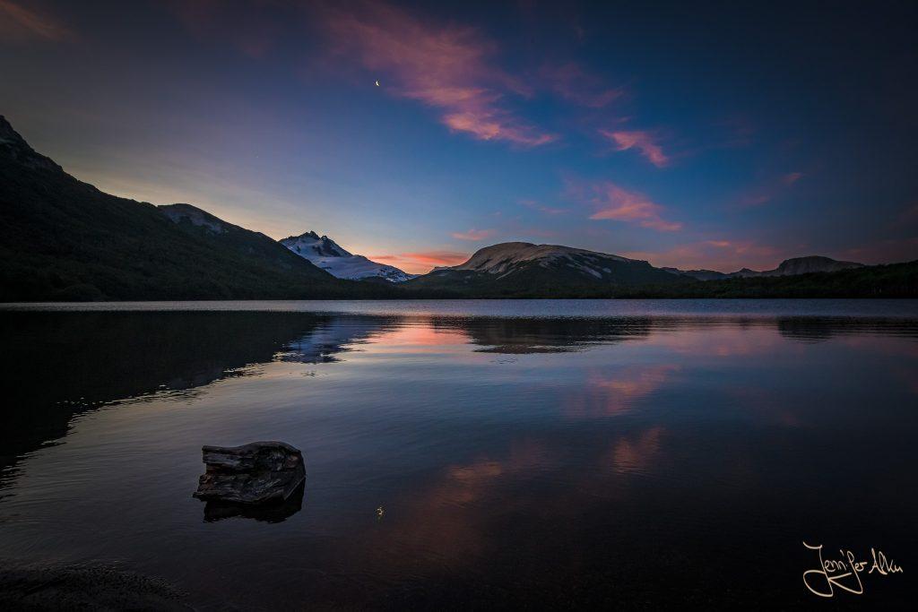 Sonnenuntergang an der Laguna Ilon