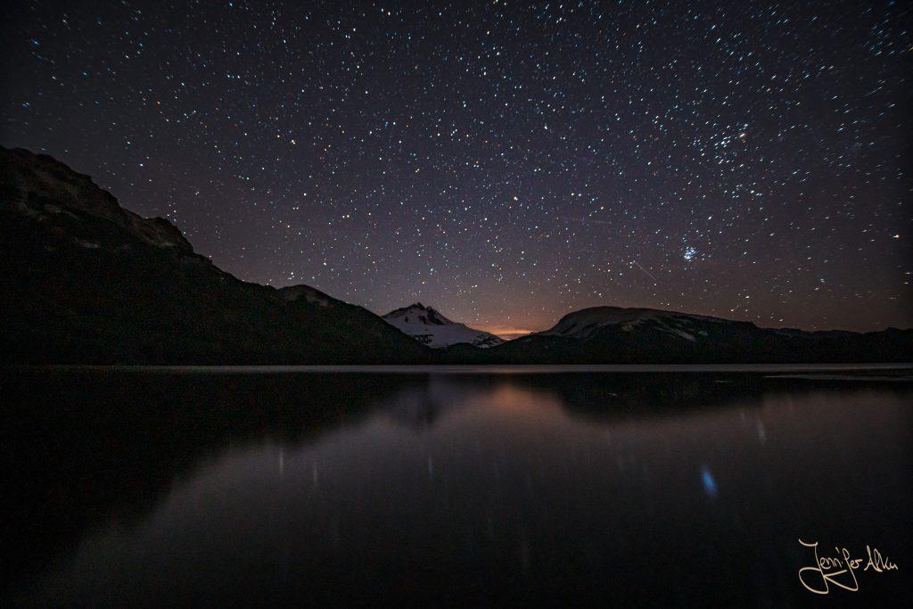 Sternenhimmel über der Laguna Ilon