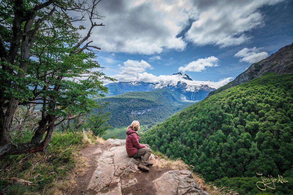 Ein letztes Mal vor dem Abstieg zur Pampa Linda die Aussicht auf den Tronador genießen