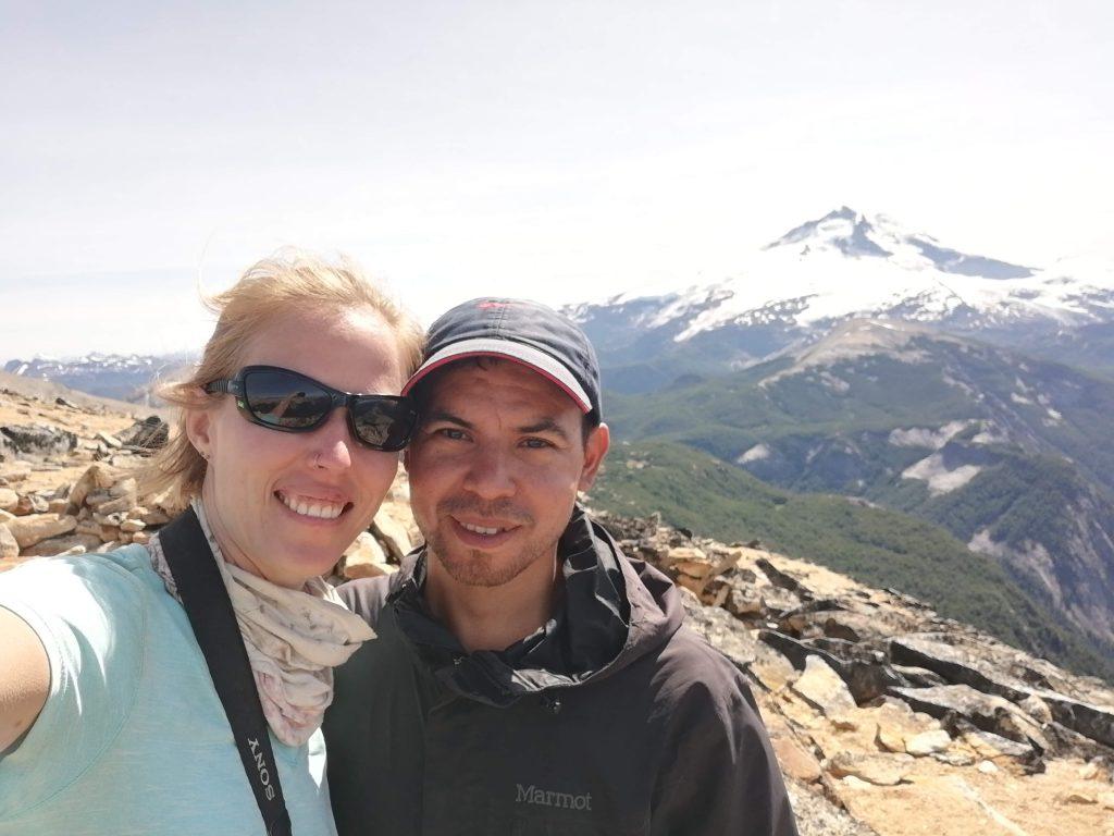Selfie vor dem Cerro Tronador