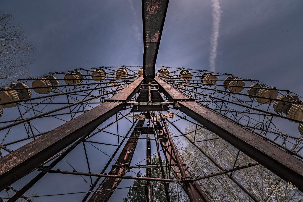 Verlassener Freizeitpark von Tschernobyl - Autoskooter