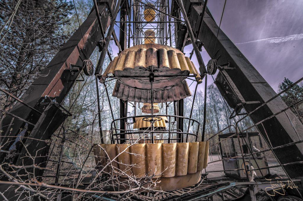 Das Riesenrad im verlassenen Freizeitpark von Pripyat